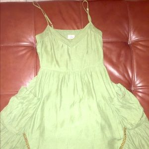 Green mid length dress by free people with pockets
